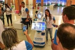 Robô Interativo lançamento do Programa de Relacionamento Vivo