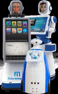 Robôs interativos, robôs inteligentes e robôs fotográficos para seus eventos