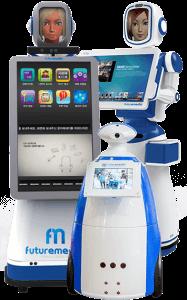 Robô Interativo, robô para eventos, robô futuremedia