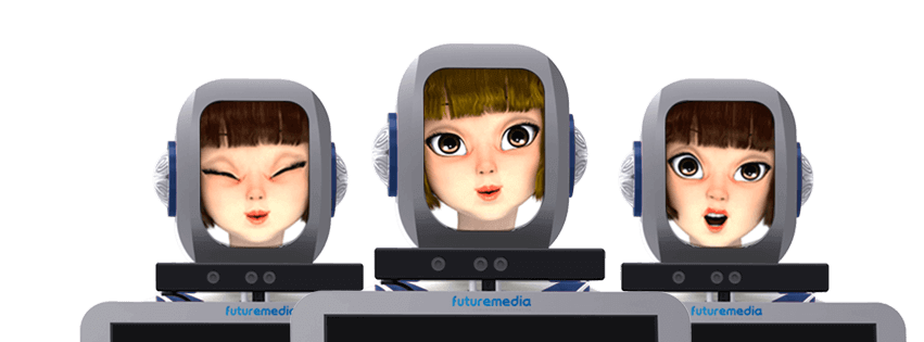 Robô com expressões faciais da Futuremedia